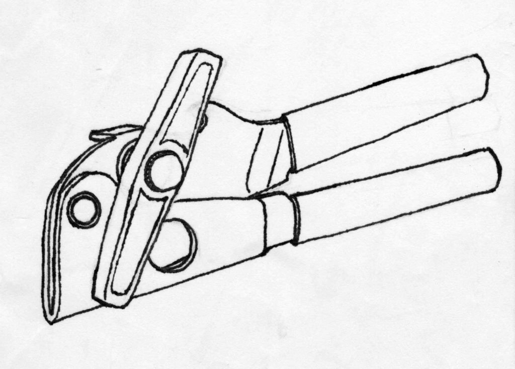 can opener drawing